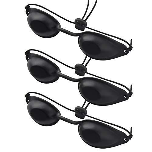 UV Schutzbrille 3Pcs Augen Schutzbrille Zuverlässigen Infrarot Solarium Schutzbrille für lichttherapie,Sonnenbank