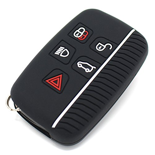 Finest-Folia, custodia portachiavi LA in silicone per le chiavi dell'auto, con 5 pulsanti .Schwarz Weiß