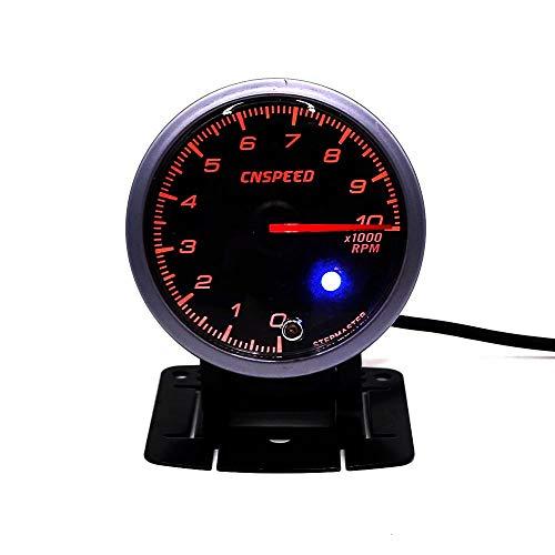 LHQ-HQ CNSPEED 60 MM de Carreras de Coches Auto tacómetro e Iluminación 0-9000 tacómetro xs101180 Cara Negro RPM Metro del Coche Auto del Metro del calibrador de Coche
