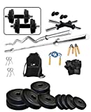 Protoner 40kg PVC Weight Lifting Package with Rods