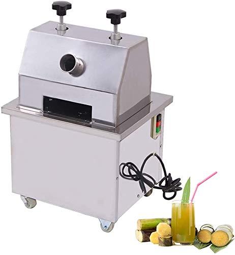 ZXMOTO Sugar Cane Machine Electric Sugar Cane Juicer Commercial Sugar Cane 110V Ginger Fruit Press Juicer With 304 Stainless Steel Rolls,25r/Min