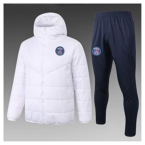 caijj Neue Herren Fußballuniform Geschenk Baumwolle Kleidung Fußball kältesicher Fußballfan kältesicher Anzug Fußball Hoodie männlich-B13-XL