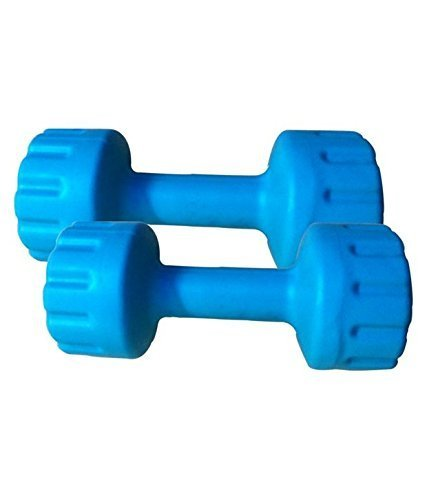 Aurion PVC1 Dumbell Set, 1Kg Each (Blue)