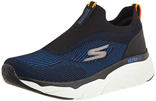 Skechers Performance MAX Cushioning Elite-Amplif, Zapatillas Hombre, Negro (BKBL Black Textile/Black Synthetic/Blue...