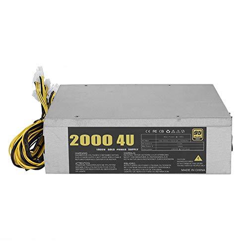 2000W Mining Miner Netzteil, Leiser Miners Antminer S9 S7 M3 L3 + T9 z9 D3 E9 A9 E11 Stromversorgung mit 6 P Schnittstellen