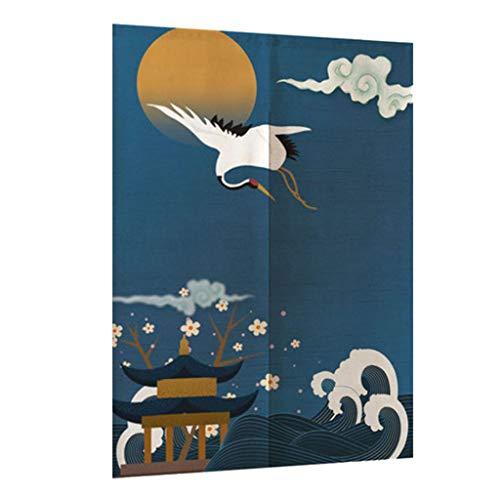 VANKOA Japaner Noren Doorway Curtain Tapestry Raumteilungs Vorhang Fliegen Kran - L, 85x150cm