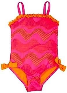 a9c90e511e Penelope Mack Toddler Girls Crochet Swimsuit, Pink/Orange, 18 Months