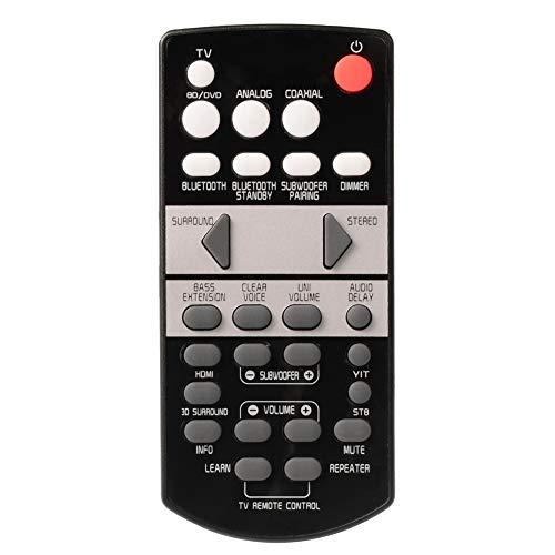 YUHUA ELE Control Remoto de Reemplazo para Yamaha YAS-105 YAS-207 YAS-107 YAS-108 YAS-106 Barra de Sonido - Mando a Distancia para SRT-700 ATS-1070 Soundbar & Más
