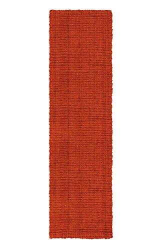 Jute & Co Boucle Teppich, handgewebt, Bouclé, Jute, Karmin, 60 x 220 cm
