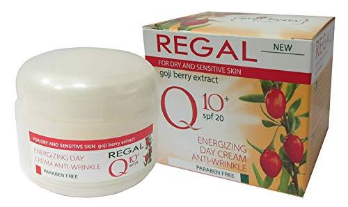Crème de jour énergisante anti rides REGAL Q10+ à l'extrait de Baies de Goji et au SPF20 50 ml