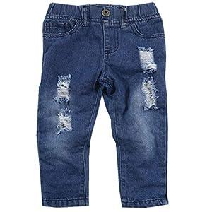 Toddler Baby Boy Clothes Short Sleeve T-shirt +Denim Pants Outfits Set, Black, 3T