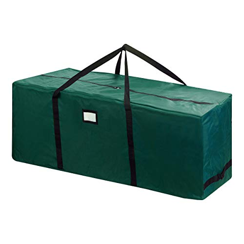 Elf Stor 83-DT5169 Rolling Christmas Storage Duffel Bag with Wheels – Holds up to a 12 Foot Artificial Tree in Green