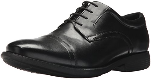 Nunn Bush Men's Dixon Cap Toe Oxford with KORE Comfort Walking Technology, BLACK, 13 Medium US