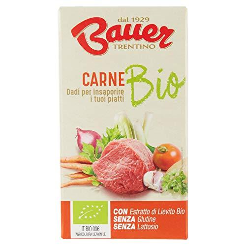 Bauer Dado per Brodo di Carne Bio, 6 x 10g