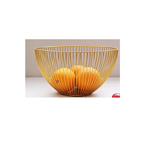 XZBXGZWY Fruit Bowl for Kitchen Counter Fruit Tray Fruit Holder Serving Trays Grape Tomatoes Platters Banana Holder Stand Metal Fruit Basket (Color : B)