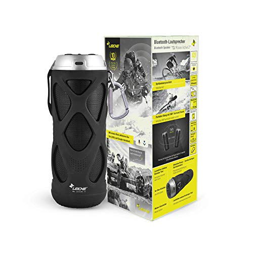 LEICKE Bluetooth Lautsprecher DJ Roxxx Active 2 | Wasserdichter tragbarer TWS Lautsprecher, 5.0 Bluetooth | Kompatibel mit Siri und Google Assistant