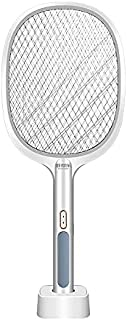 Gluckluz Electric Fly Swatter Racket Mosquito Killer Bat Bug Zapper Pest Fly Catcher for Camping BBQ Indoor Outdoor Home H...
