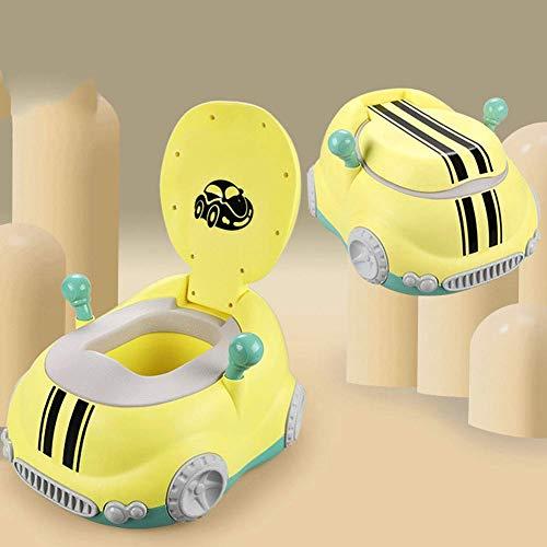 LLDKA Stable pour Les garçons et Les Filles Toucher et Confortable Funseat de Formation Toilette Pot Voiture rembourré sièges,Jaune