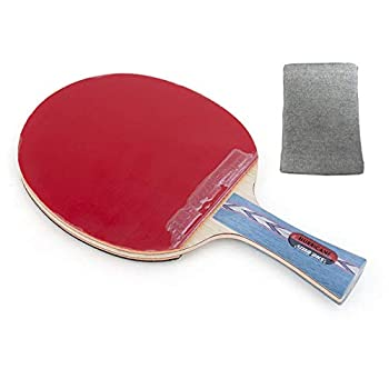 DHS HURRICANE-II Tournament Ping Pong Paddle Table Tennis Racket - Shakehand with a KAMTS Wrist Guard
