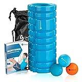 Sportastisch Top¹ Masaje kit Let's Roll with Rodillo masaje, Bola masaje, Twinball y bolsa | Set herramienta de fascia para ejercicios miofascial de fitness yoga y pilates | Hasta 3 años de garantía²