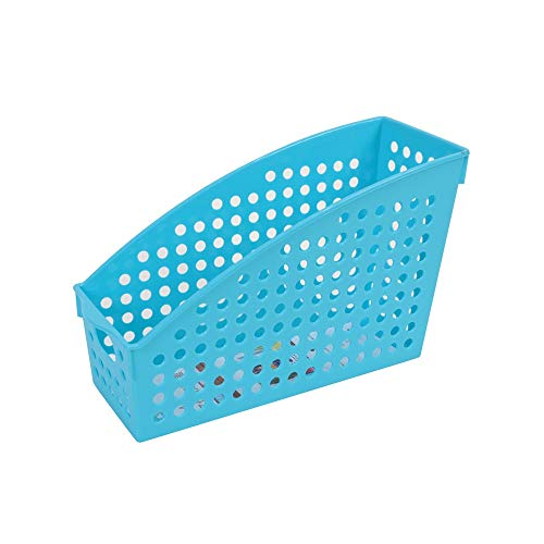 JenLn Plástico Cesta del almacenaje del documento A4 Periódico Cesta del almacenaje de Escritorio Organizador Caja Cuadro Archivo Muestra de bastidores de Oficina (Color : Blue, Size : 27X8.5X19cm)