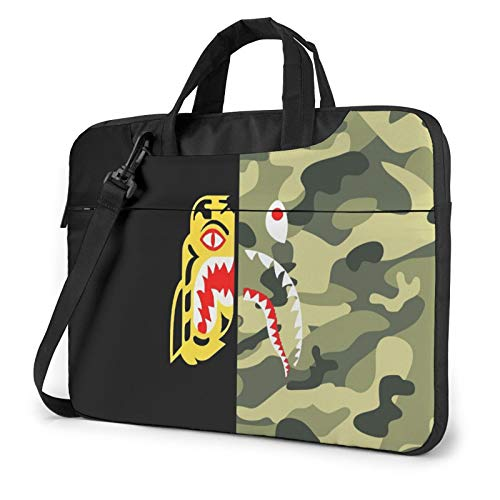 Bape Blood Shark Laptop Computer Bag Waterproof Shoulder Bag Shockproof Bussiness Carrying Handbag Laptop Sleeve