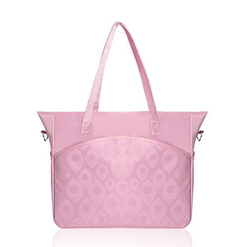 Mode sac de maman sac à main multi-fonctionnel à grande capacité Sac de messagerie mère mère paquet de bébé sac de maternité ( Couleur : Rose )