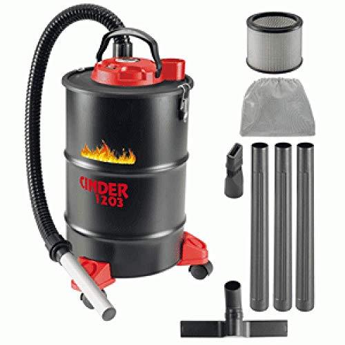 Aspirapolvere 1200w da 29lt CINDER 1203 aspiracenere per ceneri calde hot ash vacuum cleaner 1350135 ideale per camini stufe e pulizia pellet carboni