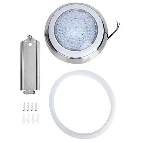 Ladieshow 12V 18W Luz subacuática LED Piscina SPA Fuente de Aguas Termales RGB Lámpara Colorida para Estanque