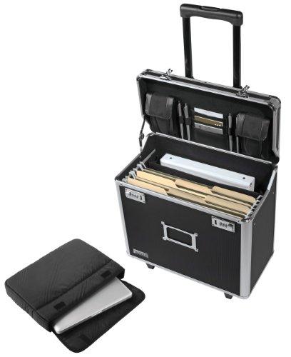 Vaultz Locking Mobile Business Case, Legal Size, 14.5 x 13.5 x 11 Inches, Black (VZ00194)