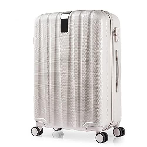 ZPDD Valigia per Bagagli Valigia per PC Trolley Borsa da Viaggio Ruota Girevole Imbarco a Mano Uomini Donne Bagagli Viaggio Viaggio (Color : White, Size : 20inch)