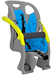 Bright color for high visibility and new rear light mount and reflector Padded Overhead pull-down grab bar acts as a hand rest when pulled down, or can be placed behind the seat for a free standing child seat Compatible with Blackburn flashers and CP...