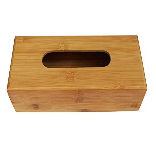 loinhgeo-Wall Mounted Durable Bamboo Tissue Box Dispenser Home Office Car Desktop Paper Towel Napkin Holder