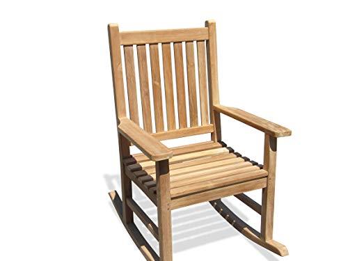 "Windsor's Premium Grade A Teak Valencia High Back Rocking Arm Chair, 27"" W/45lbs, 5 Yr Wrnty, World's Best Outdoor Furniture, Teak Lasts A Lifetime!"