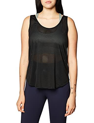 adidas Commuter Tanktop Camiseta de Tirantes para Mujer, Blanco/Negro, Small