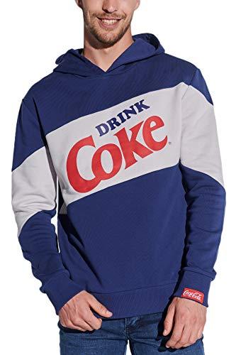 Course Herren Hoodie Kapuzen-Sweatshirt Coke Kapuzenpullover Coca Cola Baumwolle