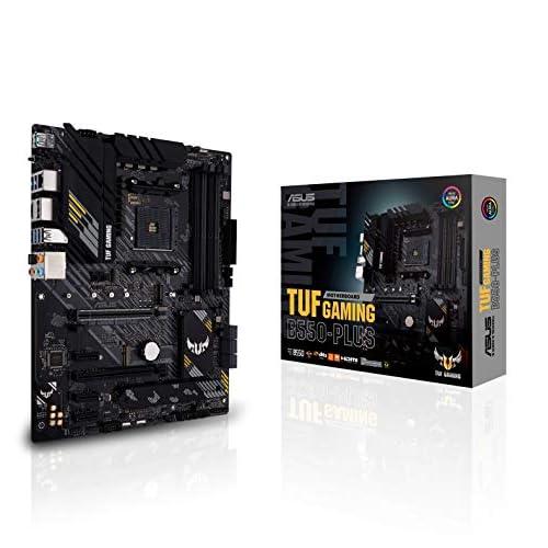 ASUS TUF GAMING B550-PLUS, Scheda madre Gaming ATX AMD B550, PCIe 4.0, doppio M.2, 10 fasi di alimentazione DrMOS, 2,5Gb Lan, HDMI, DP, USB 3.2 Gen 2 Type-A e Type-C, Aura Sync RGB