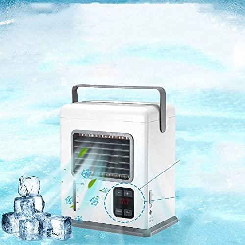 SLSFJLKJ Aria Condizionata Portatile Ricaricabile Aria Condizionata Climatizzatore USB Mini Air Cooler Air Display Digitale Ventola di Raffreddamento dell'Aria per La Casa Dell'ufficio