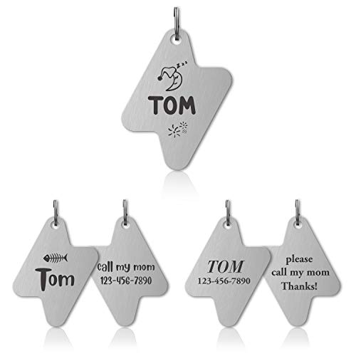 VEEHOO Antique Finished Pet ID Tags, Personalized Dog Tags & Cat Tags, Customized Front and Back Engraving, Flash, Zinc Alloy