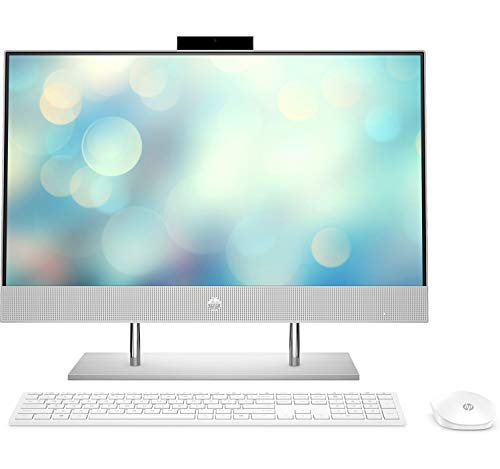 HP Computers All-in-One 24-dp0027ns 23,8 Zoll Full HD, AMD Ryzen 5 4500U, 16 GB RAM, 512 GB SSD, AMD Radeon Grafik, FreeDOS, Silber