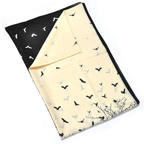 Tilla Flying Birds Dames crème sjaal Silky Touch