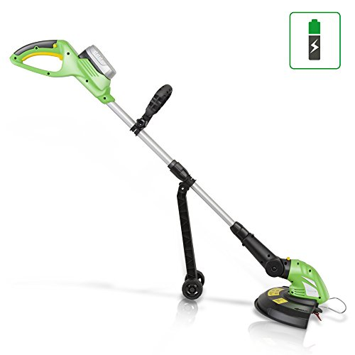 Great Deal! SereneLife PSLCGM25.5 Updated Clippers Cordless, Grass Edge Trimmer, Power, Light Green