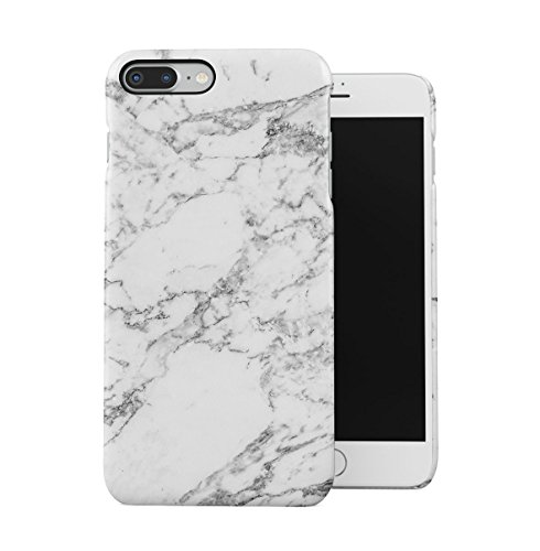DODOX Natural Gray Marble Stone Print Case Compatible with Apple iPhone 7 Plus/iPhone 8 Plus Snap-On Hard Plastic Protective Shell Cover Carcasa
