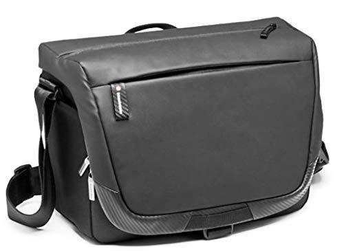 Manfrotto MB MA2-M-M Advanced² - Bandolera para cámara y portátil, DSLR y sin espejo con objetivo estándar, acceso rápido a la cámara, divisor acolchado convertible, enganche trípode, tela revestida