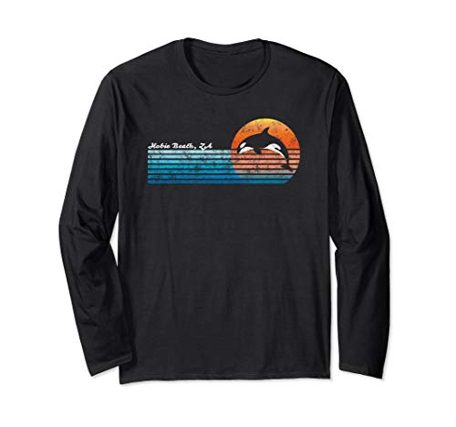 Vintage Hobie Beach, South Africa Retro 80s Orka Sunset Long Sleeve T-Shirt