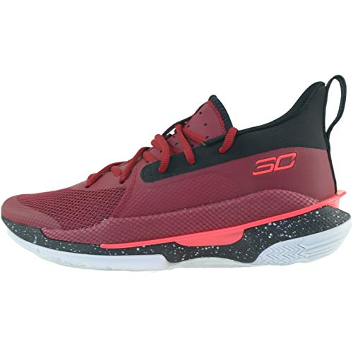 Under Armour Curry 7 Basketballschuh Herren grau/neonrot, 9 US - 42.5 EU - 8 UK
