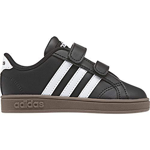 Adidas Baseline CMF INF, Zapatillas de Estar por casa Bebé Unisex, Negro (Negbás/Ftwbla/Gum5 000), 19 EU