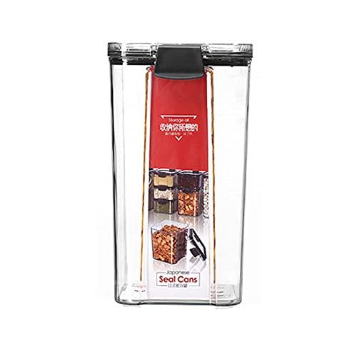 GY Cajas de Almacenamiento de plástico con Tapa Caja de Pasta Transparente para despensa Latas Selladas multigrano Contenedor de Almacenamiento de Alimentos Refrigerador de Cocina (Size : 1300ml)