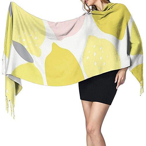Regan Nehemiah meisjes roze geel limonade lange sjaal omkeerbare warme winter kwast kasjmier sjaal