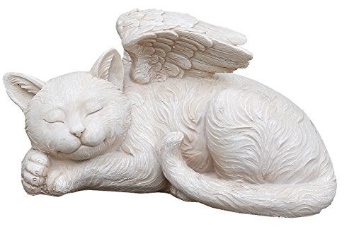 Napco 11145 Sleeping Angel Cat with Wings Garden Statue, 9.75 x 5